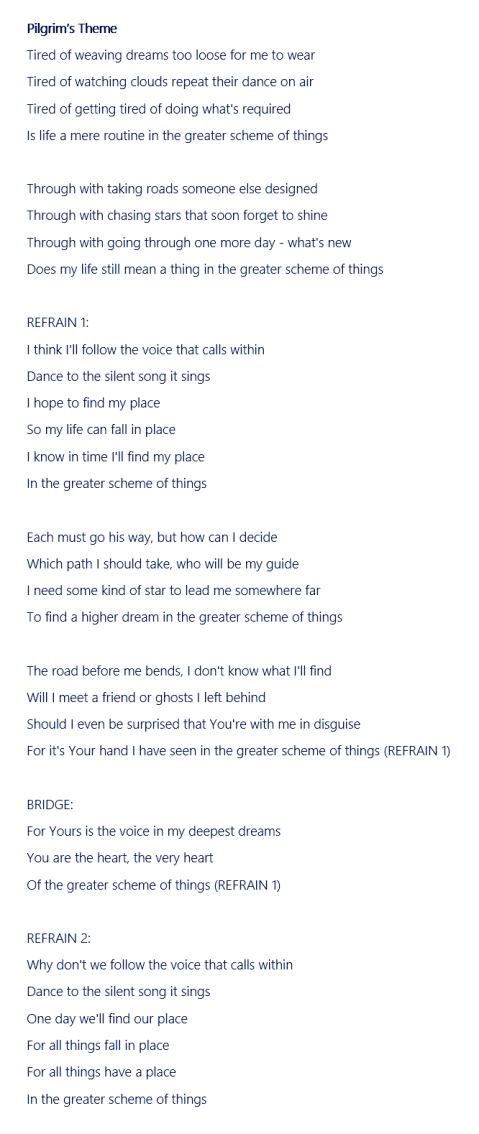 pilgrim's theme 2